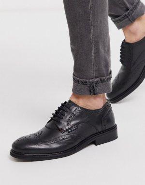 Черные туфли на шнуровке -Черный Ben Sherman