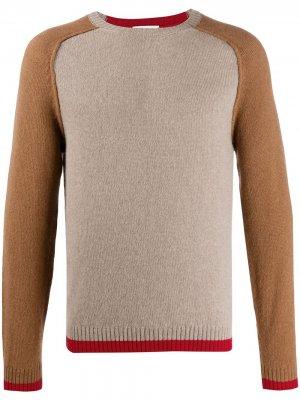 Джемпер с контрастными рукавами Ballantyne. Цвет: коричневый