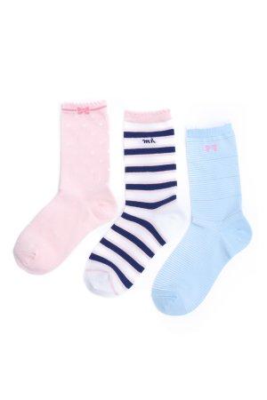 Набор носков для девочки MIKI HOUSE. Цвет: разноцветный