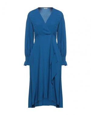 Длинное платье BEATRICE. Цвет: синий