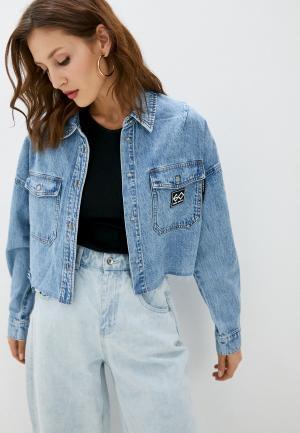 Куртка джинсовая Miss Sixty. Цвет: голубой