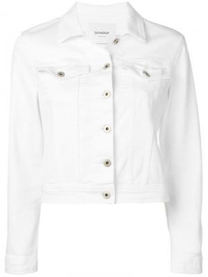 Укороченная джинсовая куртка Dondup. Цвет: белый