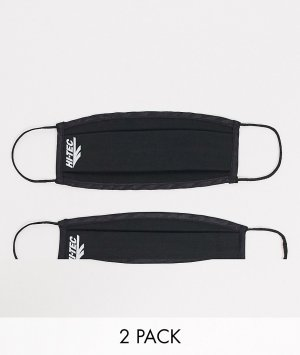 Набор из 2 черных масок для лица -Черный цвет Hi-Tec