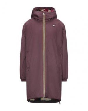 Пальто K-WAY. Цвет: красно-коричневый