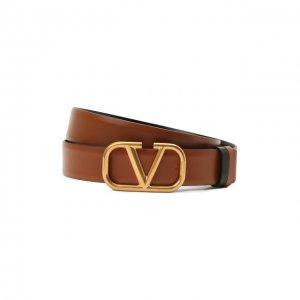 Кожаный ремень Valentino. Цвет: коричневый