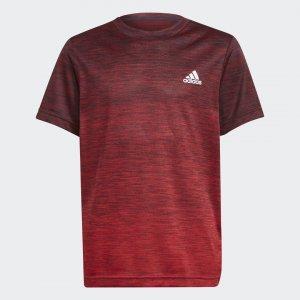 Футболка для фитнеса AEROREADY Gradient Sportswear adidas. Цвет: красный