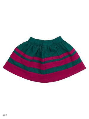Юбка изумрудная с цветной отделкой Gioia di Mamma