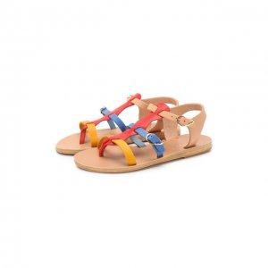 Кожаные босоножки Ancient Greek Sandals. Цвет: разноцветный