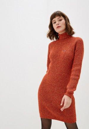Платье Lacoste. Цвет: оранжевый