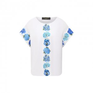 Хлопковая футболка Dolce & Gabbana. Цвет: синий