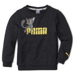 Детская толстовка Animals Crew PUMA. Цвет: черный