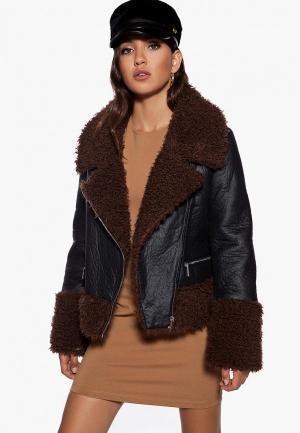 Куртка кожаная Ivyrevel. Цвет: черный