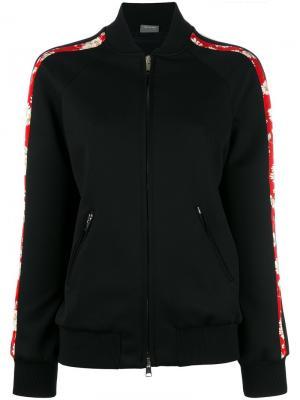 Куртка-бомбер с цветочной окантовкой Alexander McQueen