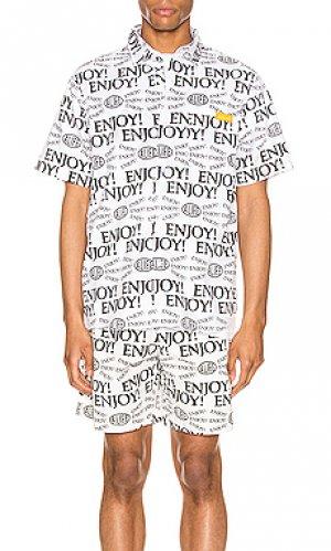 Рубашка с коротким рукавом enjoy ALIFE. Цвет: black & white