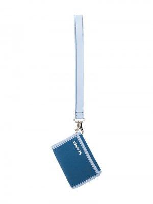 Маленький кошелек с ремешком на запястье Sunnei. Цвет: синий