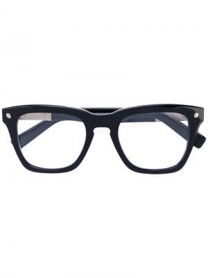Очки в квадратной оправе Dsquared2 Eyewear. Цвет: чёрный