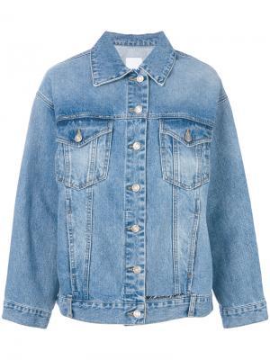 Классическая джинсовая куртка SJYP. Цвет: синий