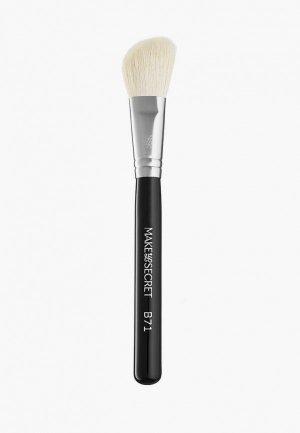 Кисть для лица Make-Up Secret. Цвет: черный