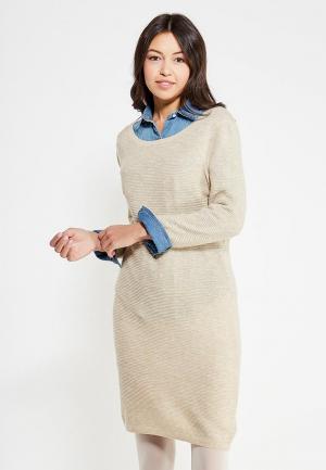 Платье Only. Цвет: бежевый