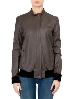 Кожаная куртка Haider Ackermann. Цвет: коричневый