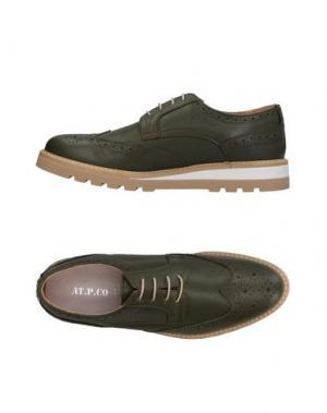 Обувь на шнурках AT.P.CO. Цвет: зеленый-милитари