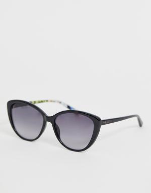 Черные солнцезащитные очки кошачий глаз -Черный Ted Baker