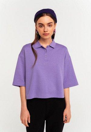 Поло Befree Exclusive online. Цвет: фиолетовый