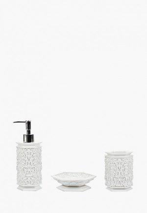 Набор аксессуаров для ванной Sofi De Marko. Цвет: белый