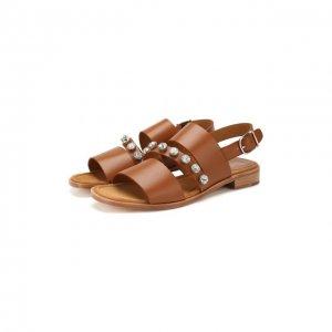 Кожаные сандалии Pertini. Цвет: коричневый
