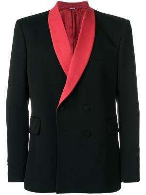 Двубортный пиджак-смокинг Stella McCartney. Цвет: чёрный