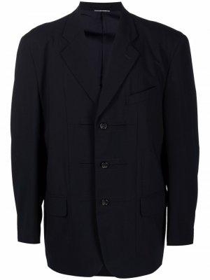 Пиджак оверсайз с объемными плечами 1990-х годов Comme Des Garçons Pre-Owned. Цвет: синий