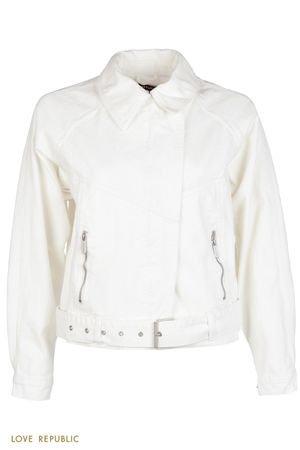 Джинсовая куртка с поясом LOVE REPUBLIC