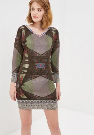Платье Custo Barcelona. Цвет: хаки