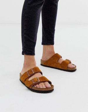 Замшевые сандалии цвета норки Birkenstock