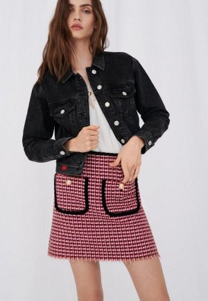 Куртка джинсовая Maje. Цвет: серый