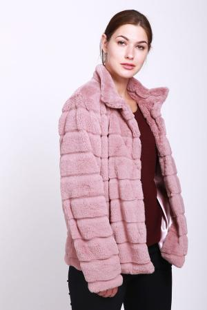 Шуба Just Valeri. Цвет: розовый
