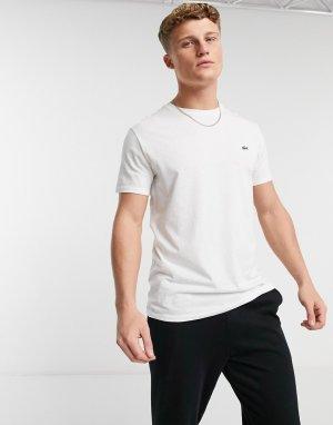 Белая футболка с логотипом -Белый Lacoste
