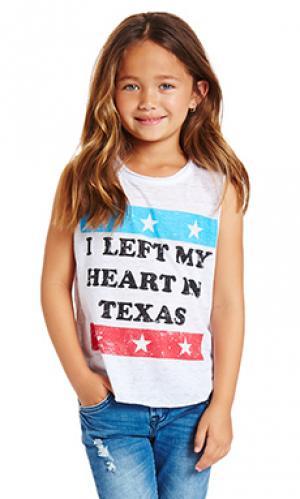 Майка left my heart in texas Chaser. Цвет: кремовый