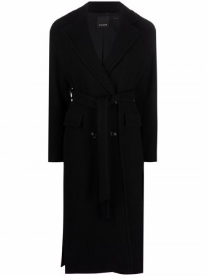 Double-breasted midi coat Pinko. Цвет: черный