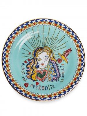 Десертная тарелка Aphrodite La Doublej. Цвет: синий