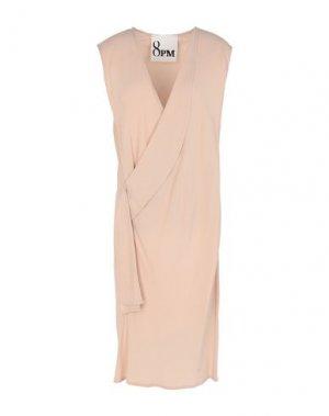 Платье до колена 8PM. Цвет: телесный