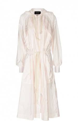 Удлиненная куртка-ветровка с поясом Isabel Marant. Цвет: розовый