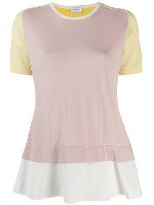Многослойная футболка Akris Punto. Цвет: розовый