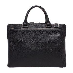 Кожаная деловая сумка для ноутбука Albert Black