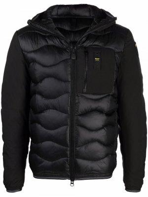 Стеганая куртка с капюшоном Blauer. Цвет: черный