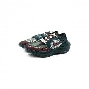 Кроссовки Nike x Gyakusou ZoomX Vaporfly Next% NikeLab. Цвет: зелёный