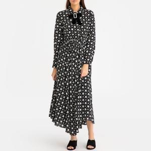 Платье длинное с рисунком и бантом SISTER JANE. Цвет: черный