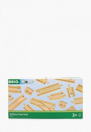 Конструктор Brio Бол.наб.деталей д.построения ж/д,50 дет.,кор.. Цвет: разноцветный