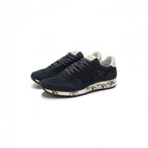 Замшевые кроссовки Eric Premiata. Цвет: синий