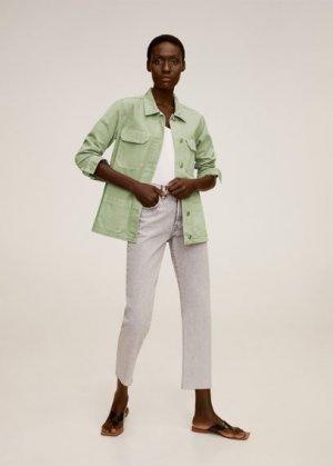 Джинсовая куртка с карманами - Worker Mango. Цвет: зеленый